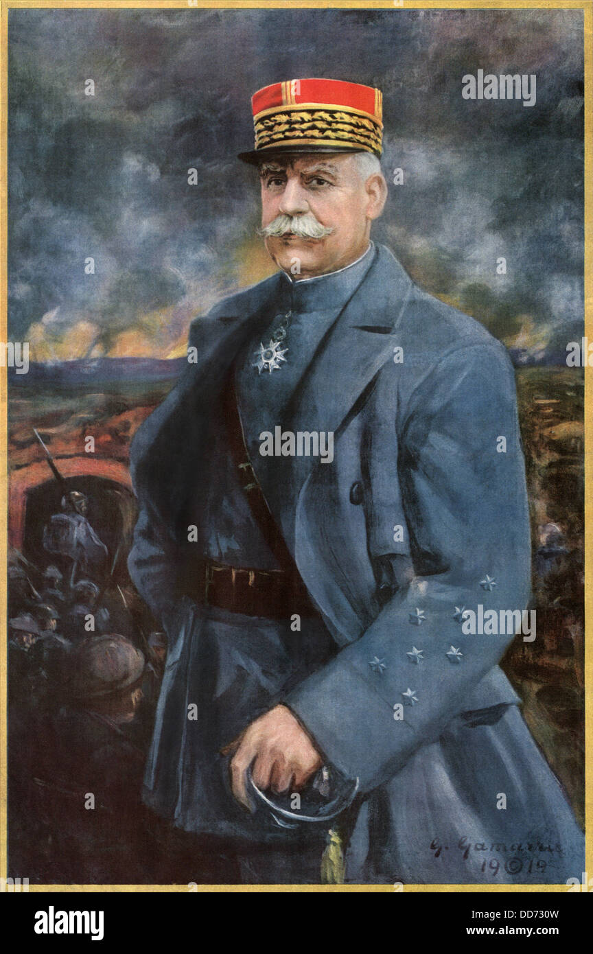 General Henri-Philippe Petain, was appointed French Commander-in-Chief on May 15, 1917, after many French army front - Stock Image