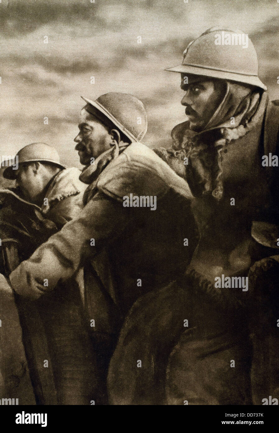 World war 1 the battle of verdun french soldiers in a - Battlefield 1 french soldier ...