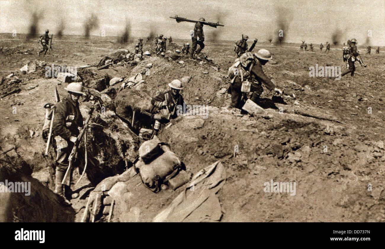 World War 1 Battle Of The Somme British Infantry Attack German