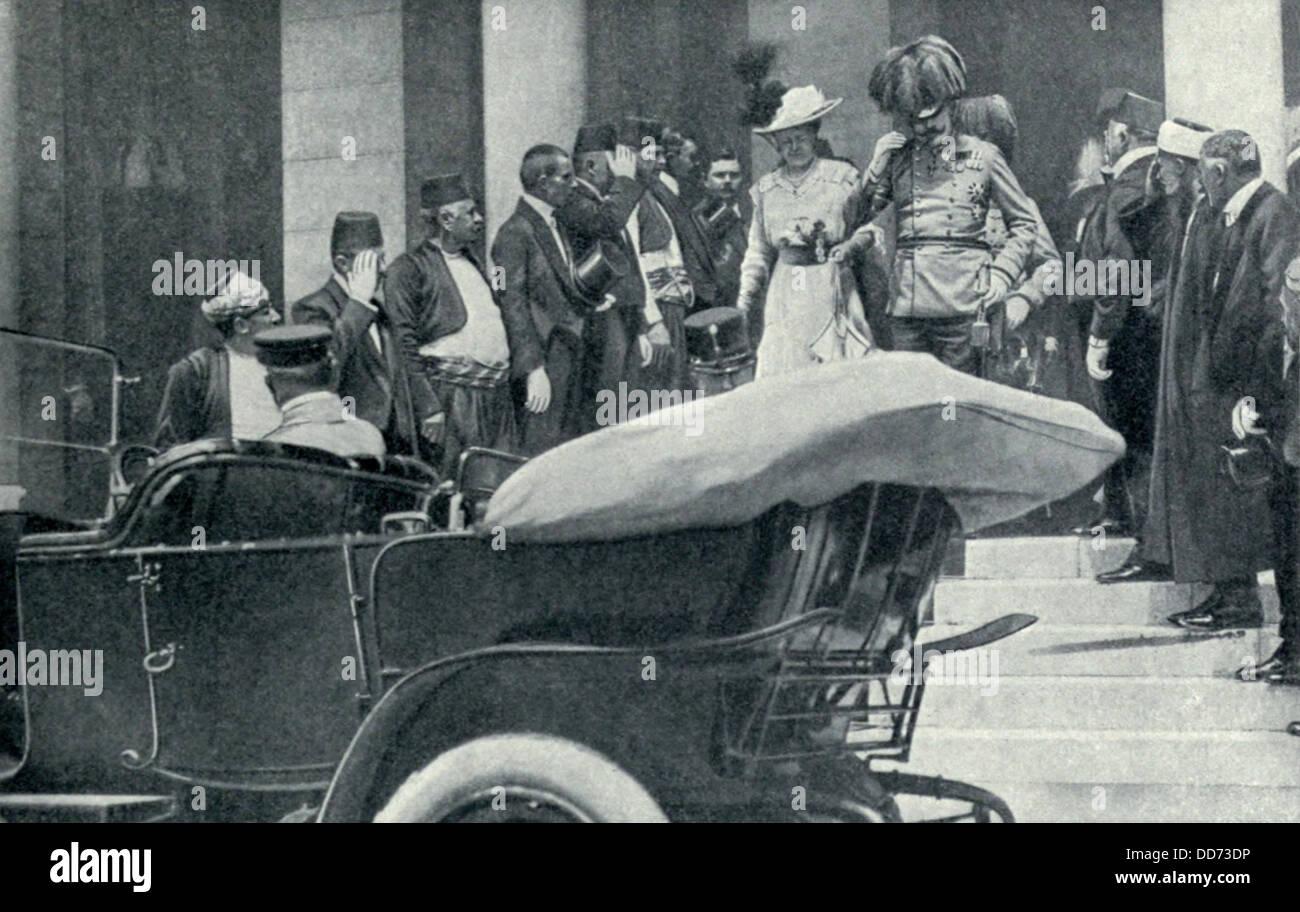 Archduke Franz Ferdinand And His Wife In Sarajevo Bosnia