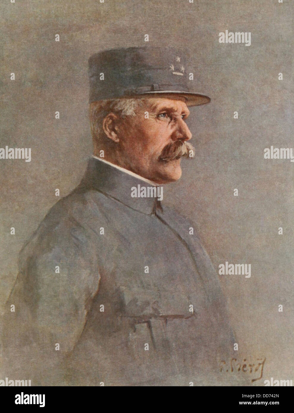 Henri Philippe Petain, Commander-in-Chief of the Armies of France from 1917-18. (BSLOC_2013_5_37) - Stock Image