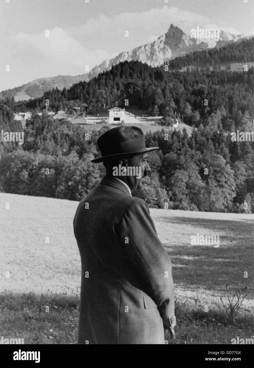 German House Designs: Adolf Hitler In The Mountains Stock Photos & Adolf Hitler