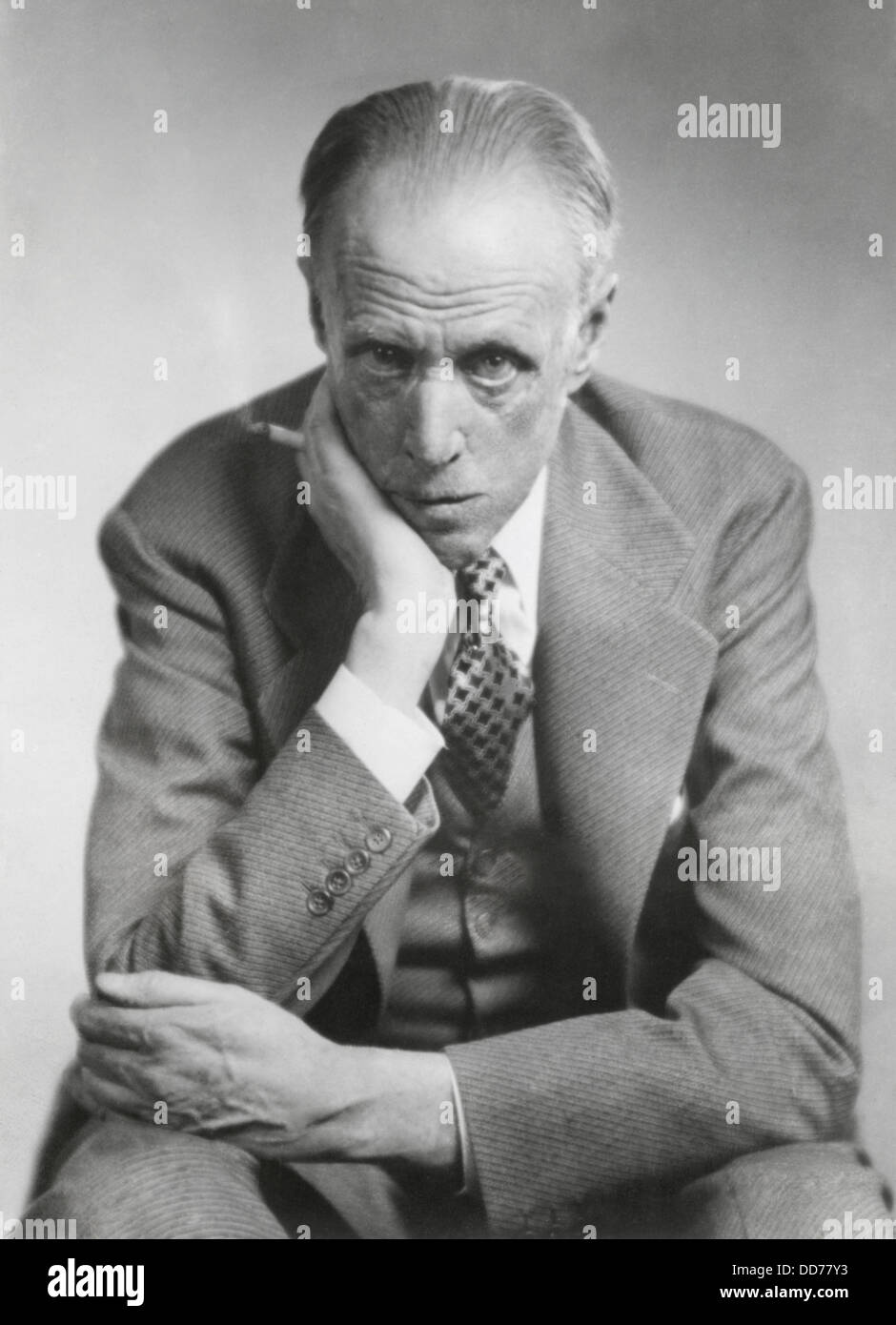Sinclair Lewis, American novelist, short-story writer, and playwright. He was married to powerful newspaper columnist, - Stock Image