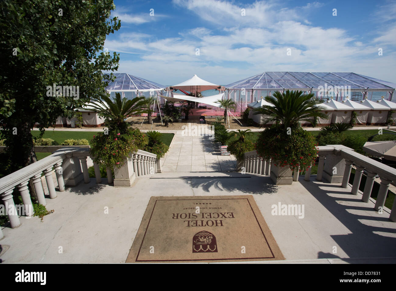 GENERAL VIEWS OF SET UP OF THE 70TH VENICE FILM FESTIVAL LIDO VENICE  ITALY 27 August 2013 - Stock Image