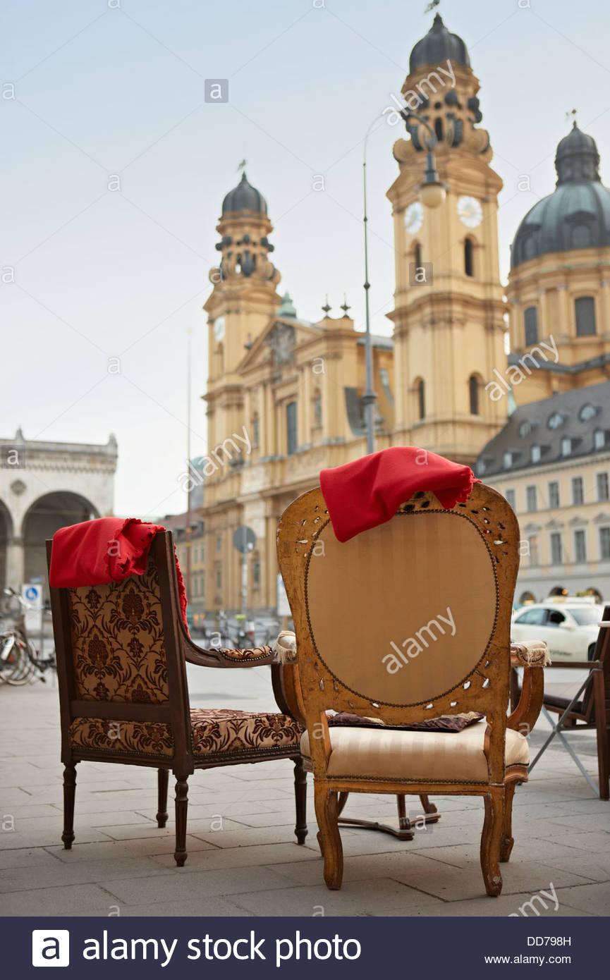 Germany, Bavaria, Munich, View of Theatine Church - Stock Image