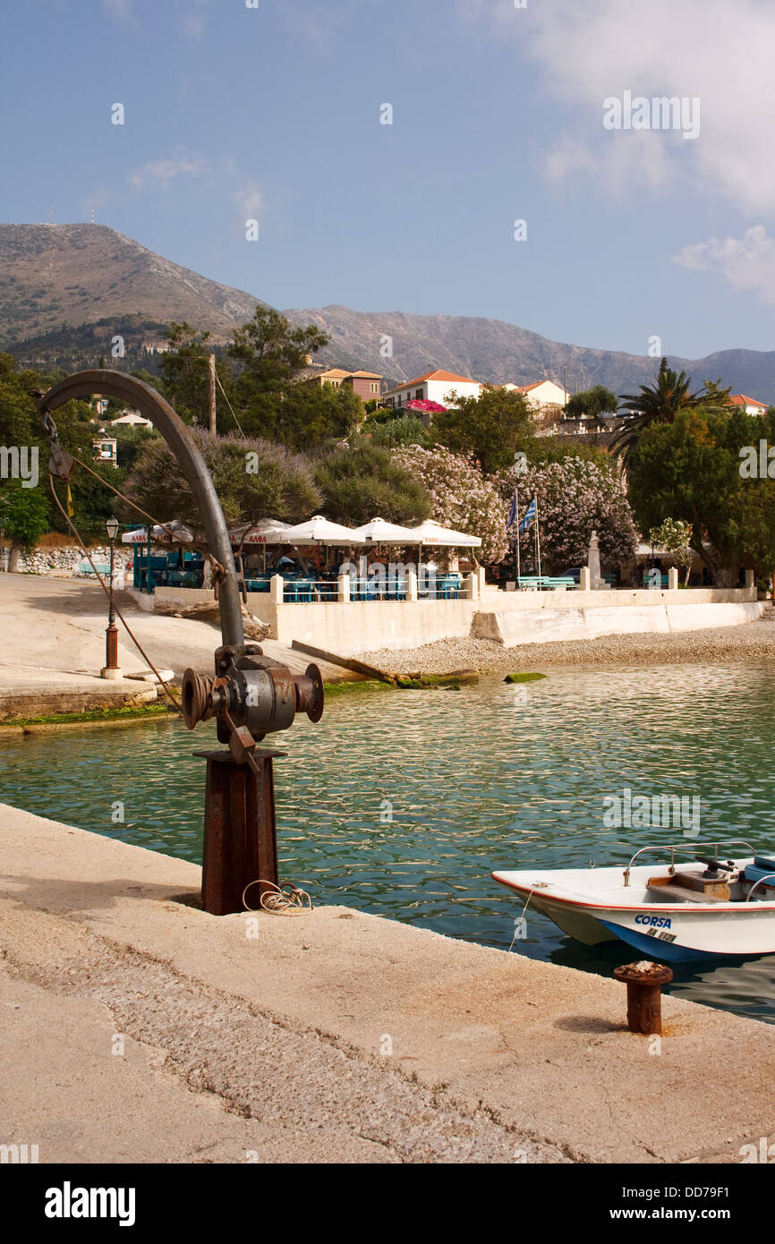 The harbour at Assos, on the Greek island of Kefalonia. Stock Photo