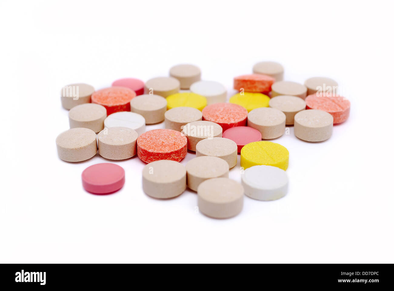 colored tablets - Stock Image