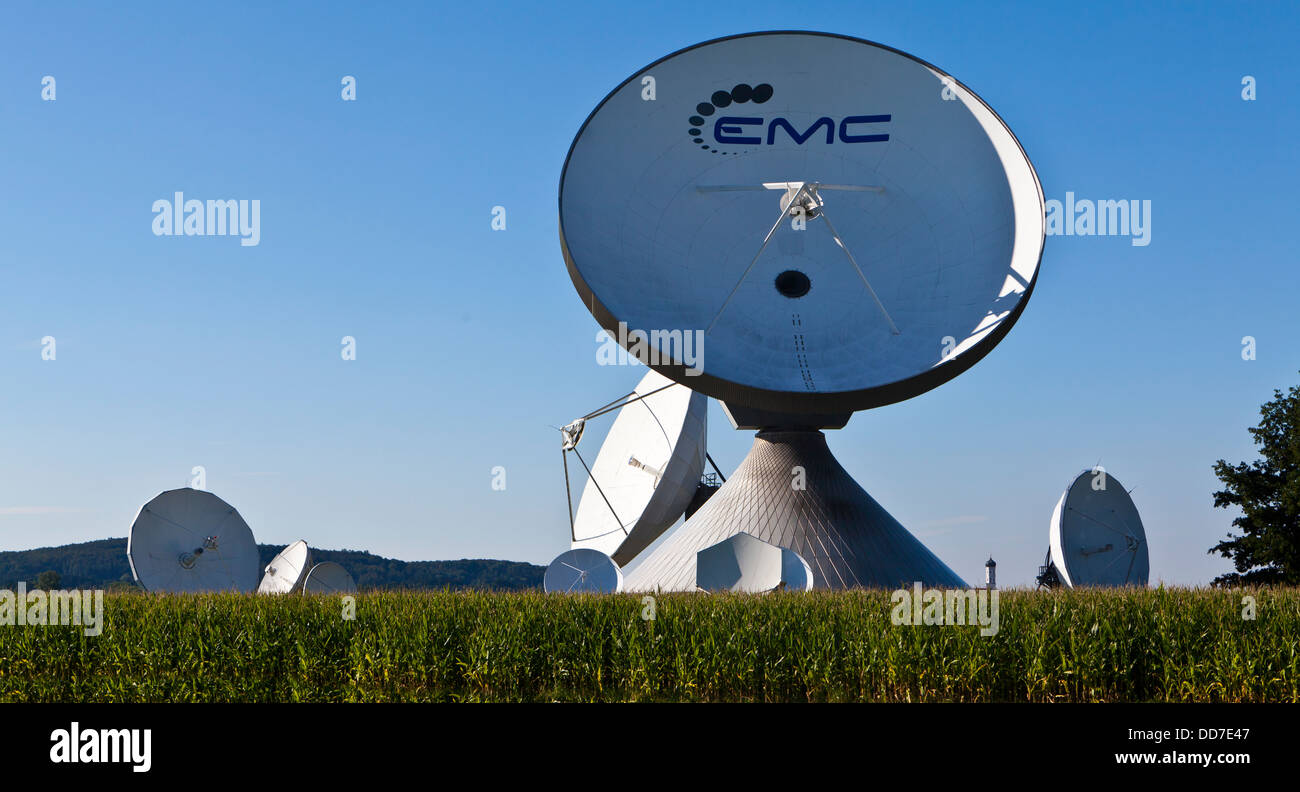 Germany, Bavaria, View of Satellite dishes - Stock Image