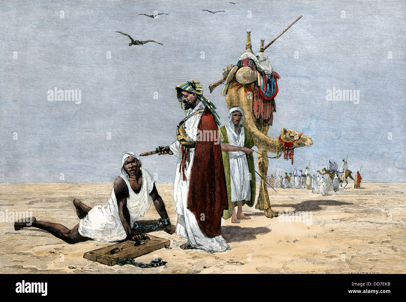 arab-slave-trader-shooting-an-exhausted-slave-in-the-african-desert-DD7EKB.jpg