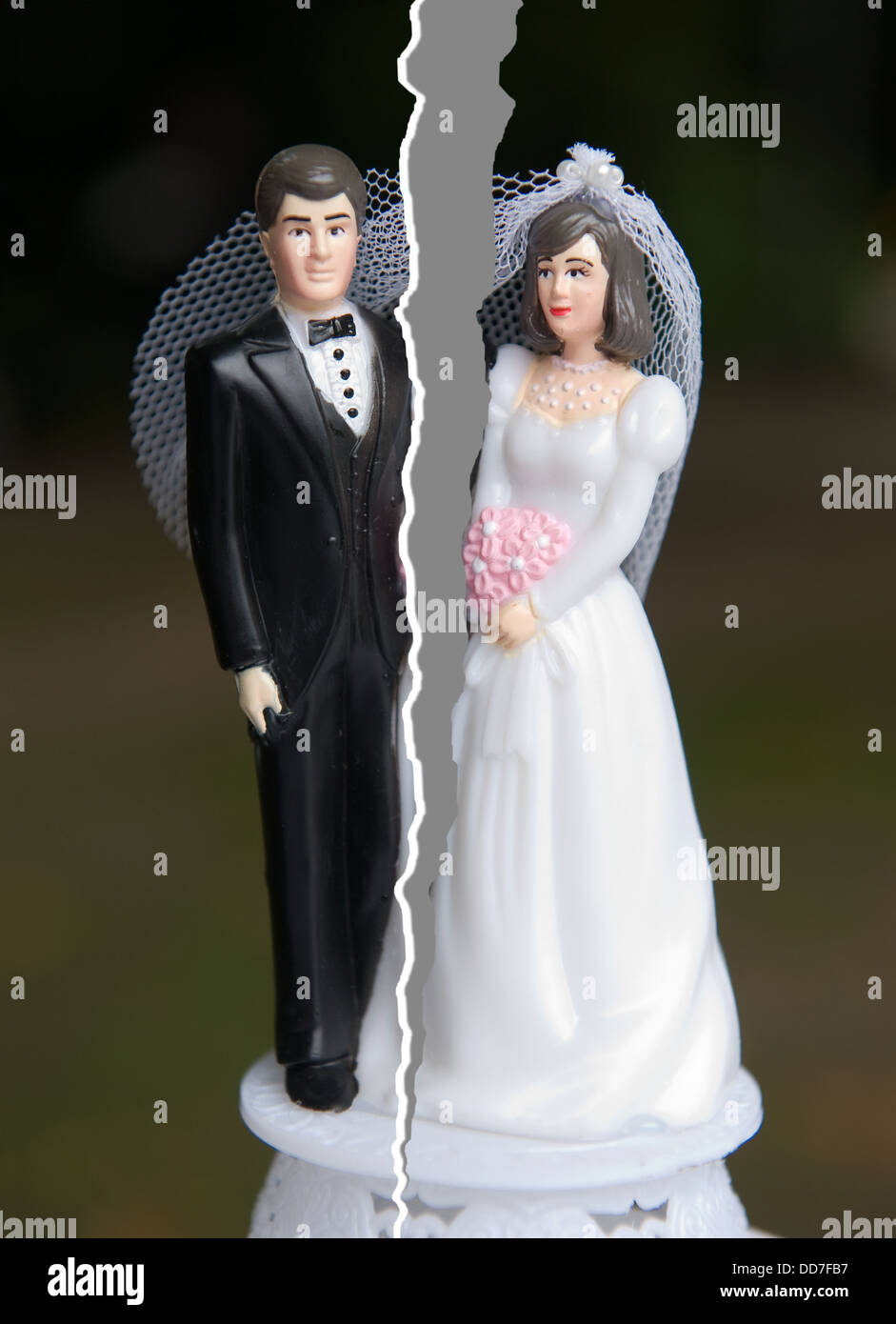Brake up of a married couple - Stock Image