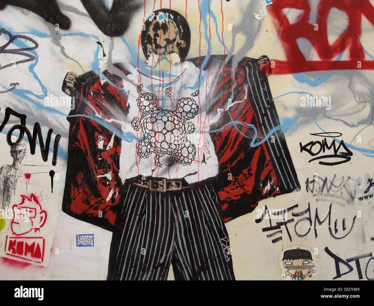 Graffitis at Saint Germain des Pres,Paris,France Stock Photo