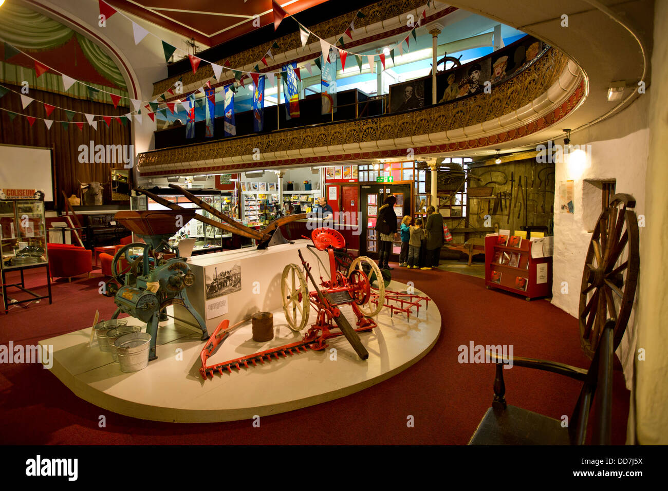 UK, Wales, Ceredigion, Aberystwyth, Terrace Road, Ceredigion Museum, interior - Stock Image
