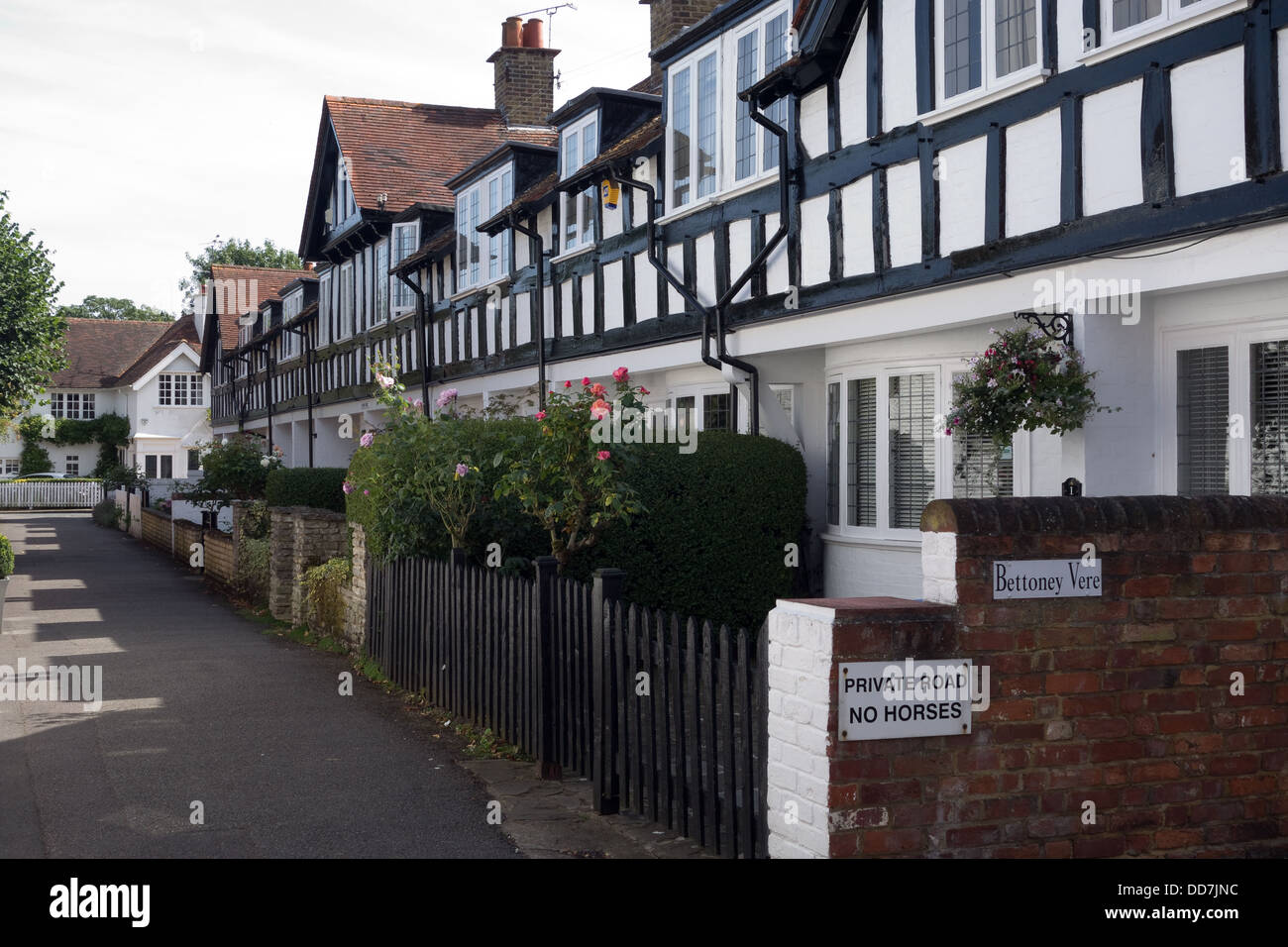 Private Road, Bray, Berkshire, UK - Stock Image