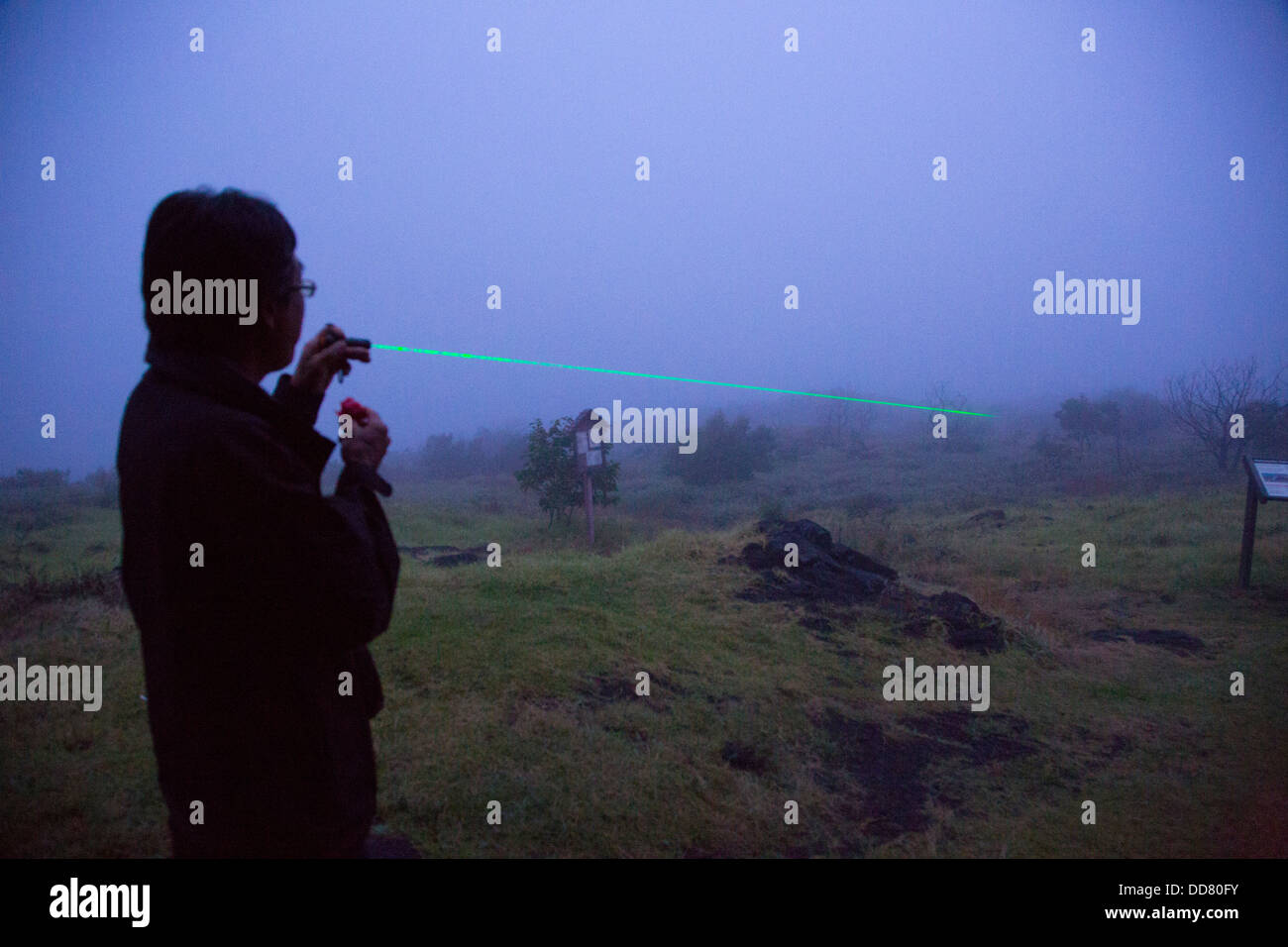 Laser Light pointer, The Big Island of Hawaii - Stock Image