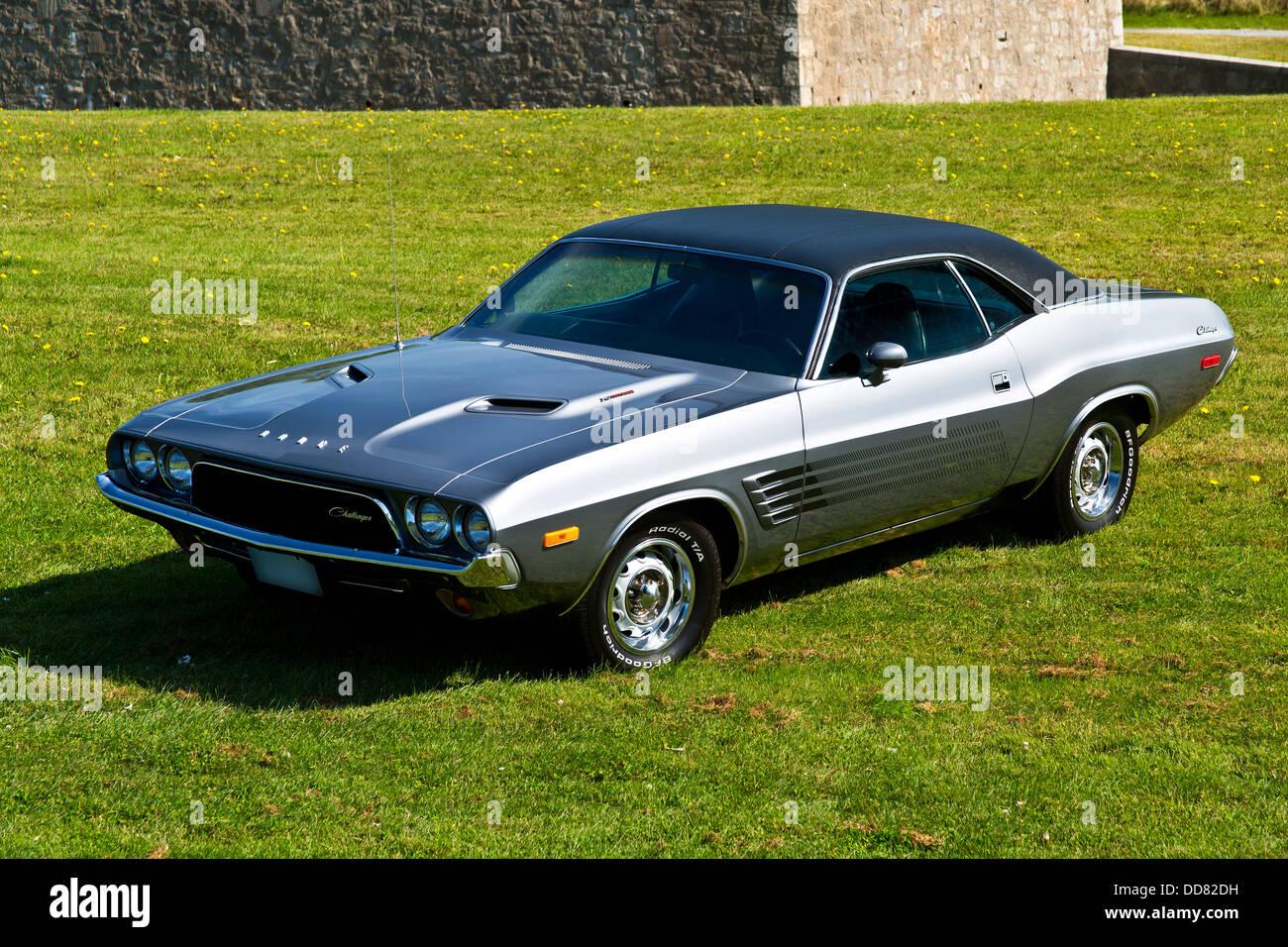 1973 Dodge Challenger on grass Stock Photo