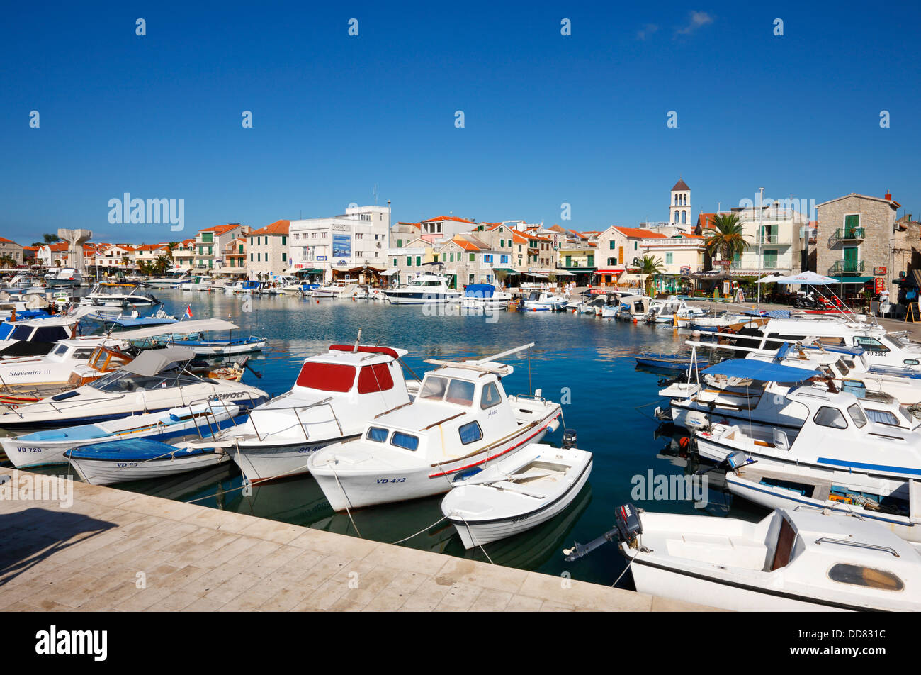 Vodice harbor in Croatia - Stock Image