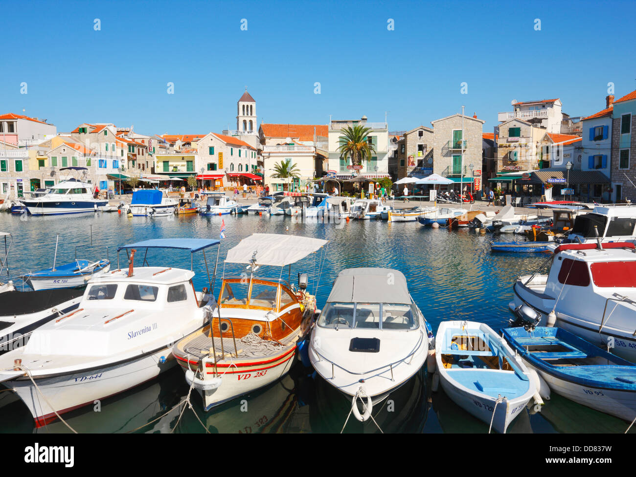 Vodice town in Croatia Stock Photo