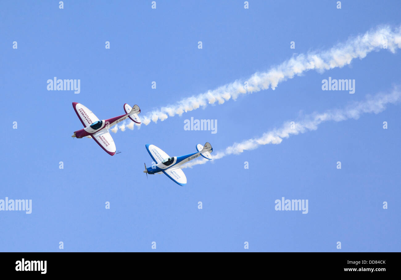 The SWIP Aerobatic Display Team at Cosford Airshow 2013. Cosford, Shropshire, England, Europe - Stock Image