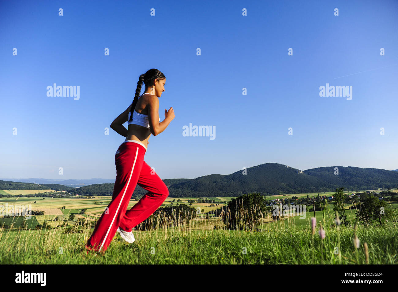young, pretty woman (model-released) Stock Photo