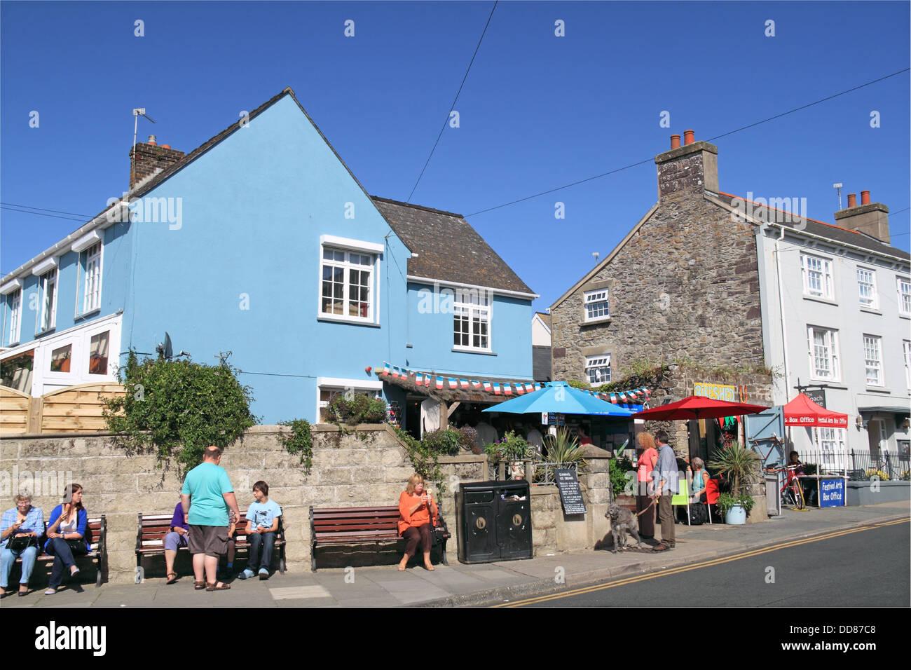 Gianni's Ice Cream shop, High Street, St Davids, Pembrokeshire, Wales, United Kingdom, UK, Europe - Stock Image