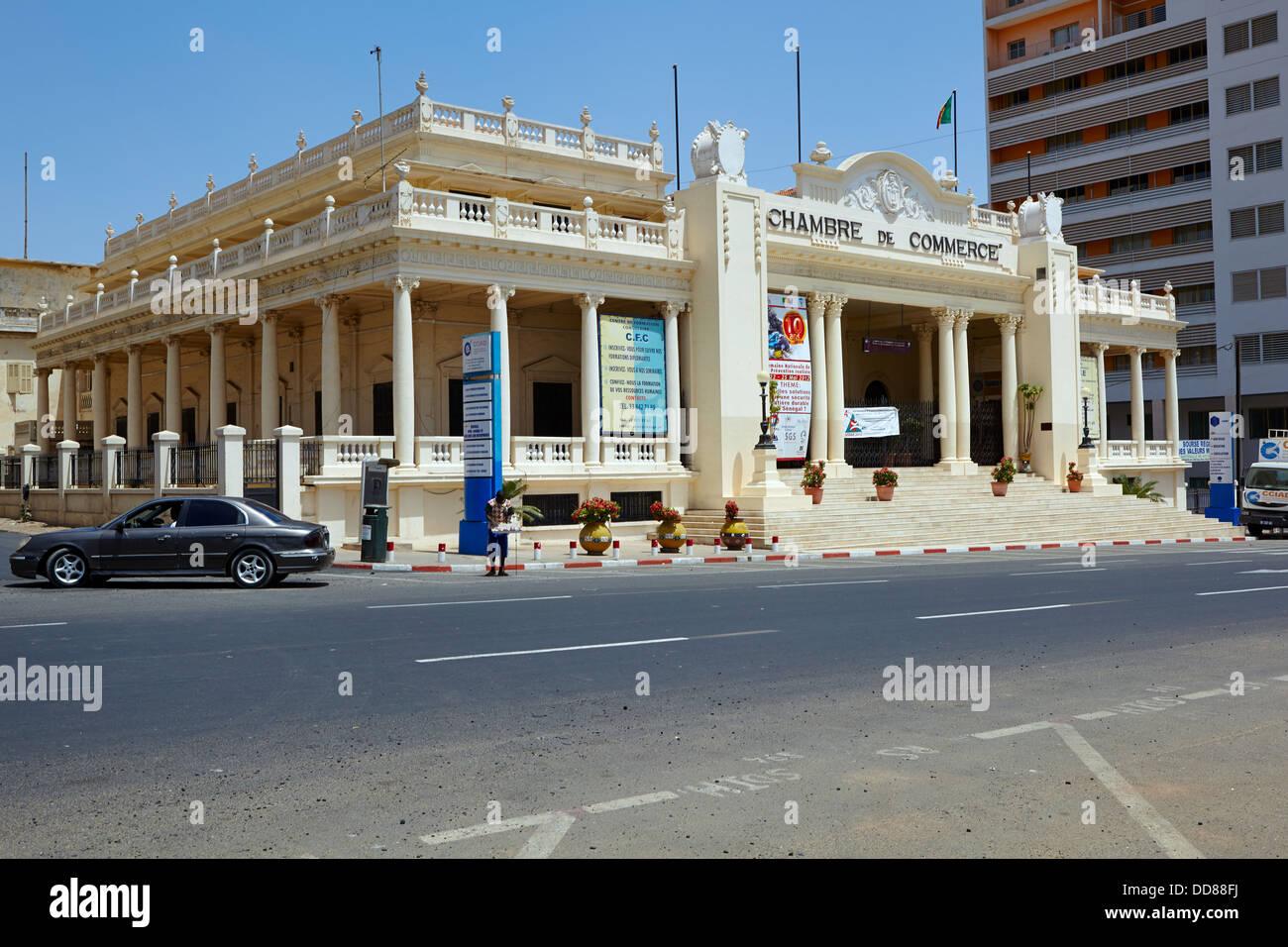 Chambre de Commerce, Dakar, Senegal, Africa - Stock Image