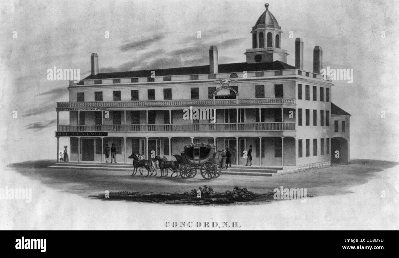Inn at Concord, New Hampshire, circa 1850 - Stock Image