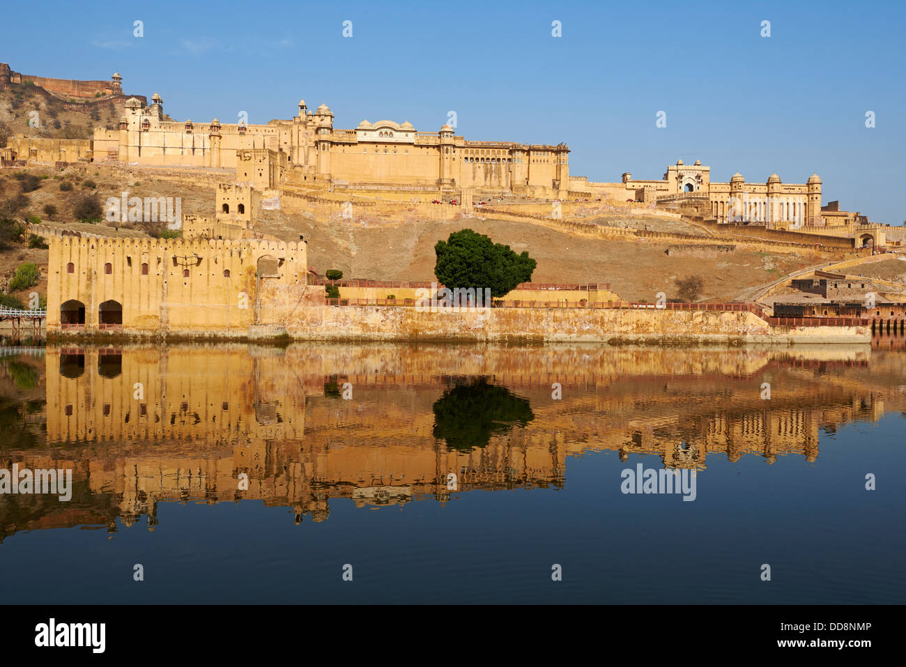 India, Rajasthan, Jaipur the pink city, Amber fort - Stock Image