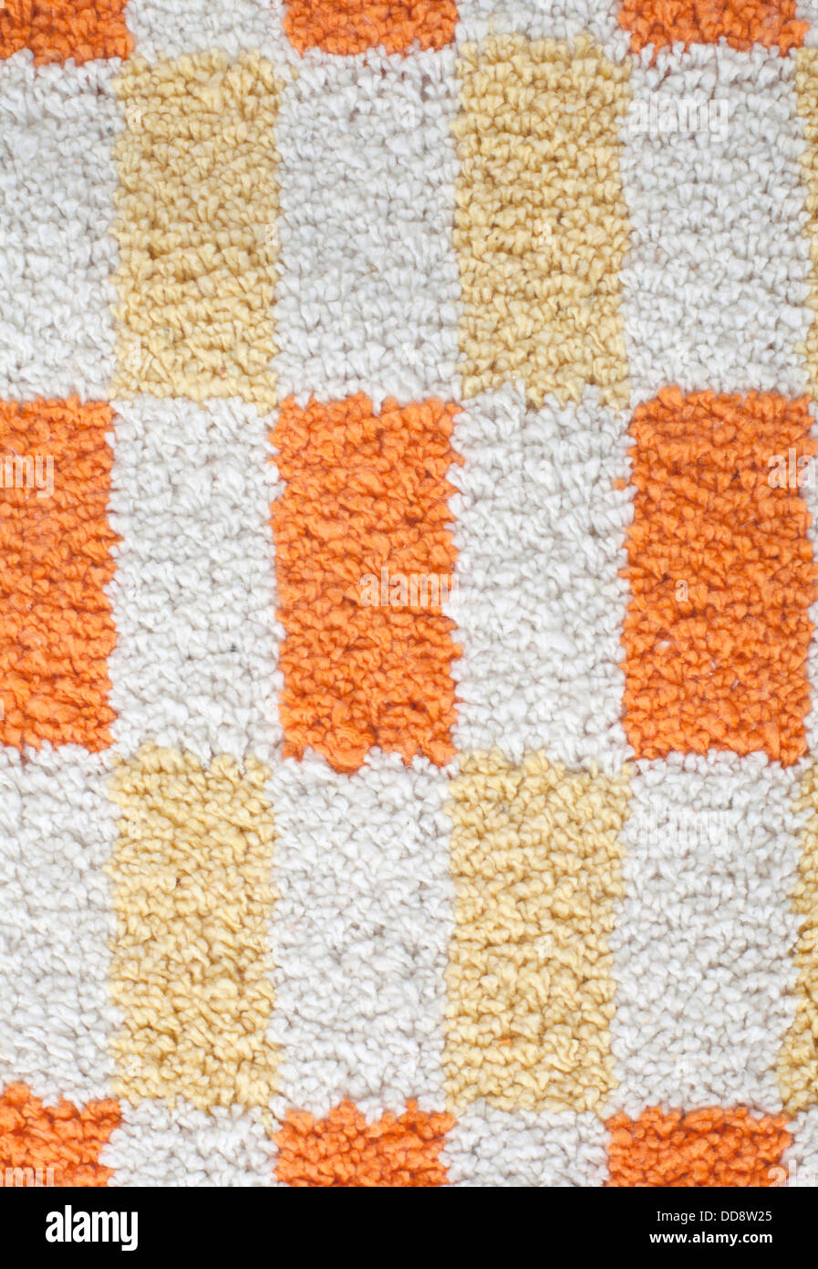Close up of colorful carpet texture - Stock Image