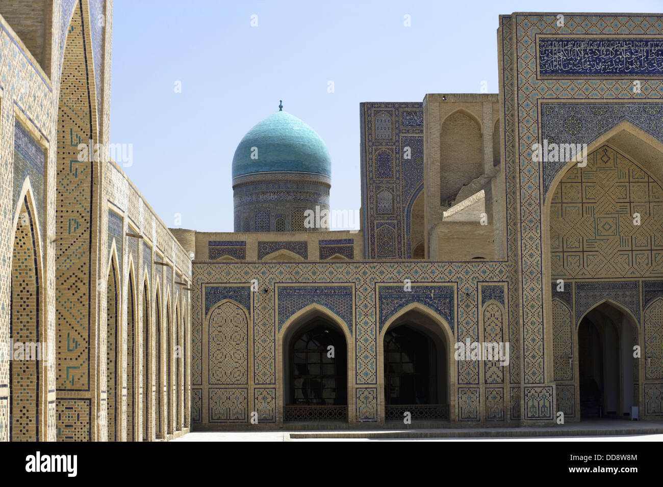Inside Kalon Mosque With One Of The Turquoise Domes Mir