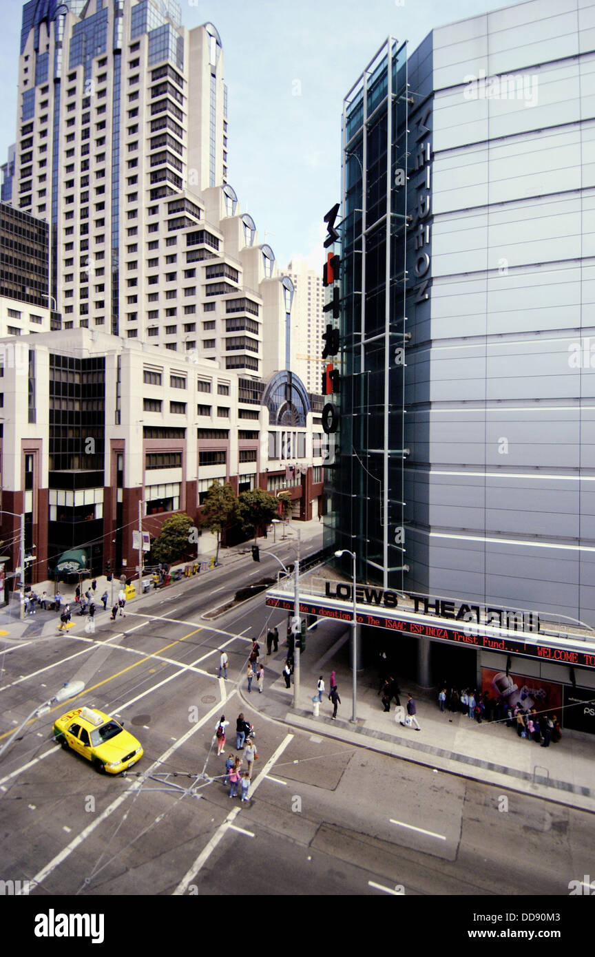 The Metreon is a shopping center located in downtown San Francisco at the corner of 4th Street and Mission Street. It is a four-story , square foot (33, m²) building built over the corner of the underground Moscone Center convention center.