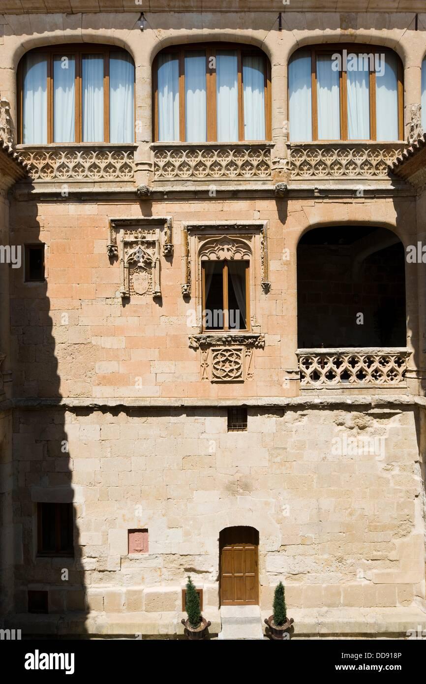 Good love Castle, Castillo del buen Amor, Actually a hotel, Villanueva del Cañedo, Topas, Salamanca province, - Stock Image