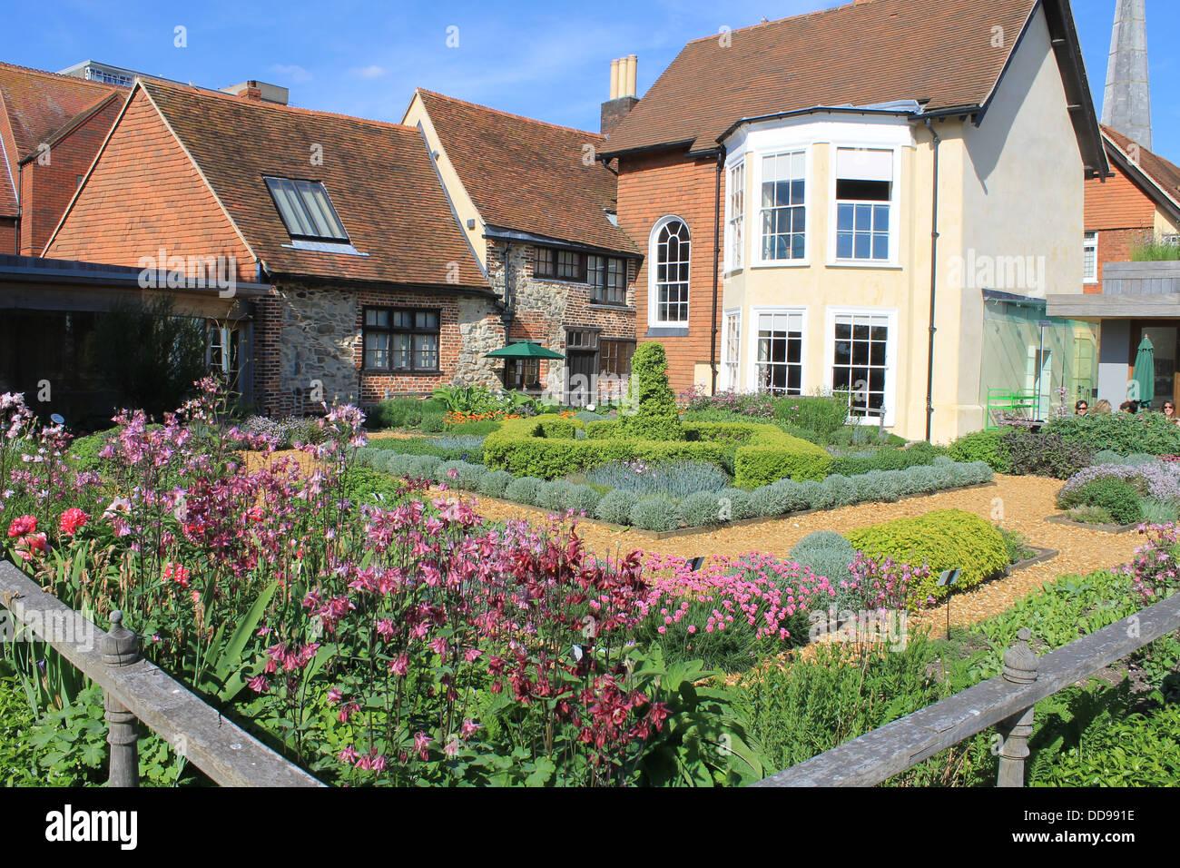 The Tudor House garden, Southampton, Hampshire, UK - Stock Image