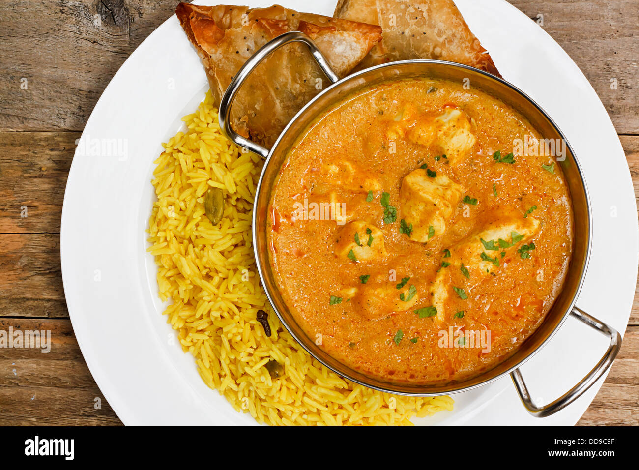 Chicken Korma a popular indian curry dish and favourite with people not keen on spicy food - Stock Image