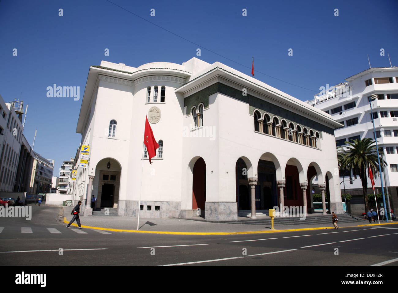 Post office casablanca morocco stock photo  alamy