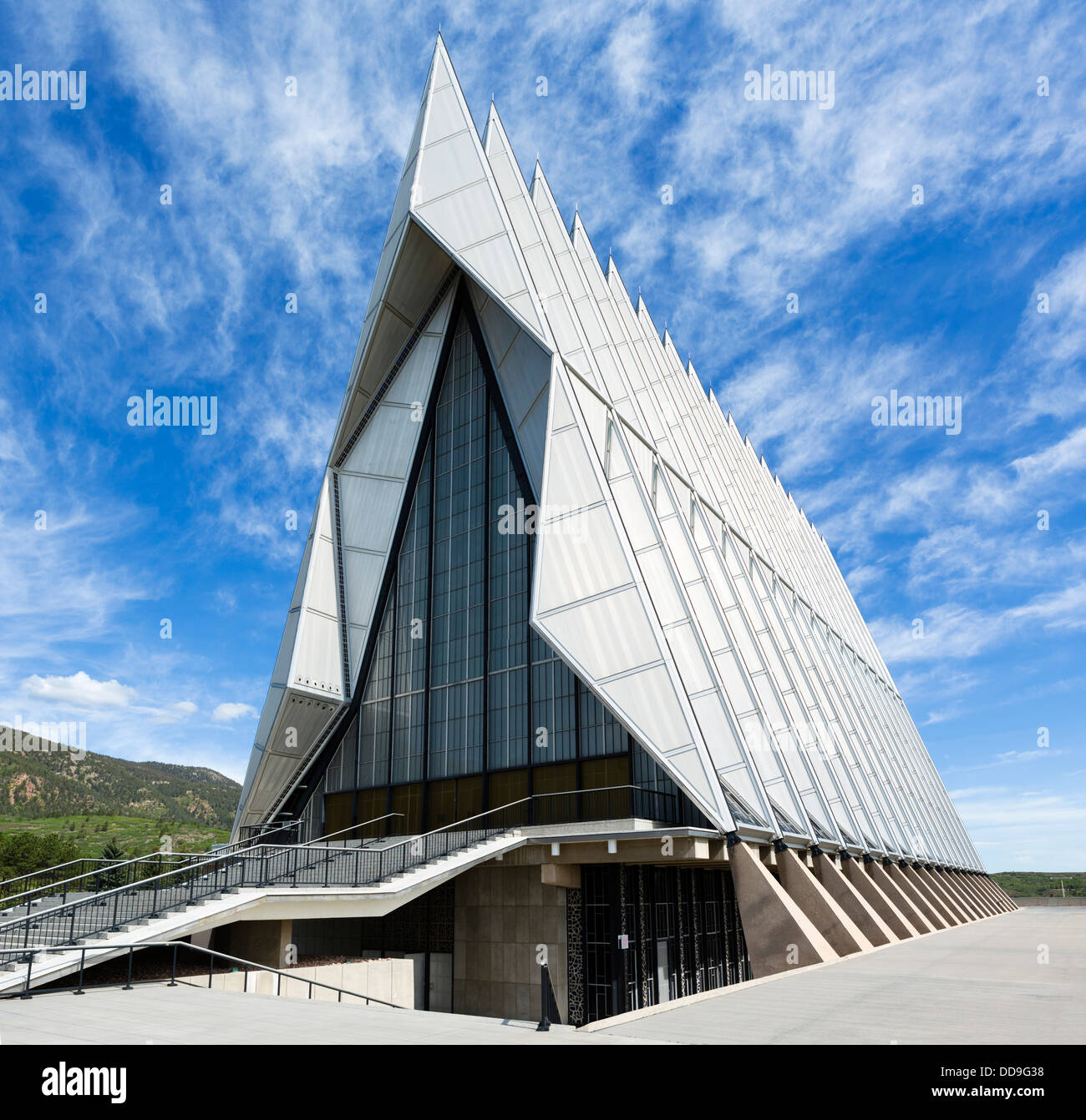 The Cadet Chapel at the United States Air Force Academy, Colorado Springs, Colorado, USA - Stock Image