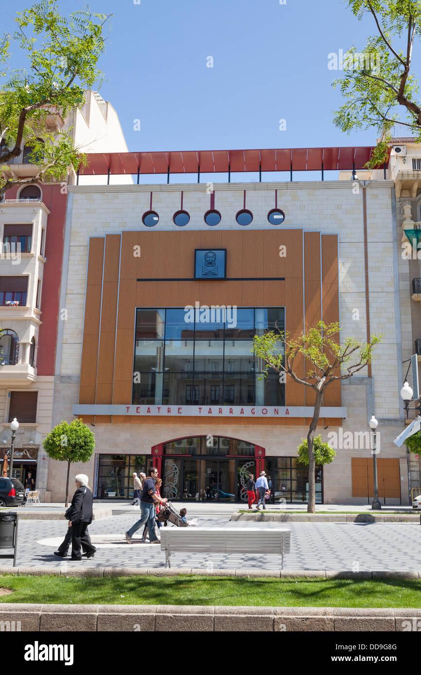 Exterior Teatre Tarragona on Rambla Nova - Stock Image