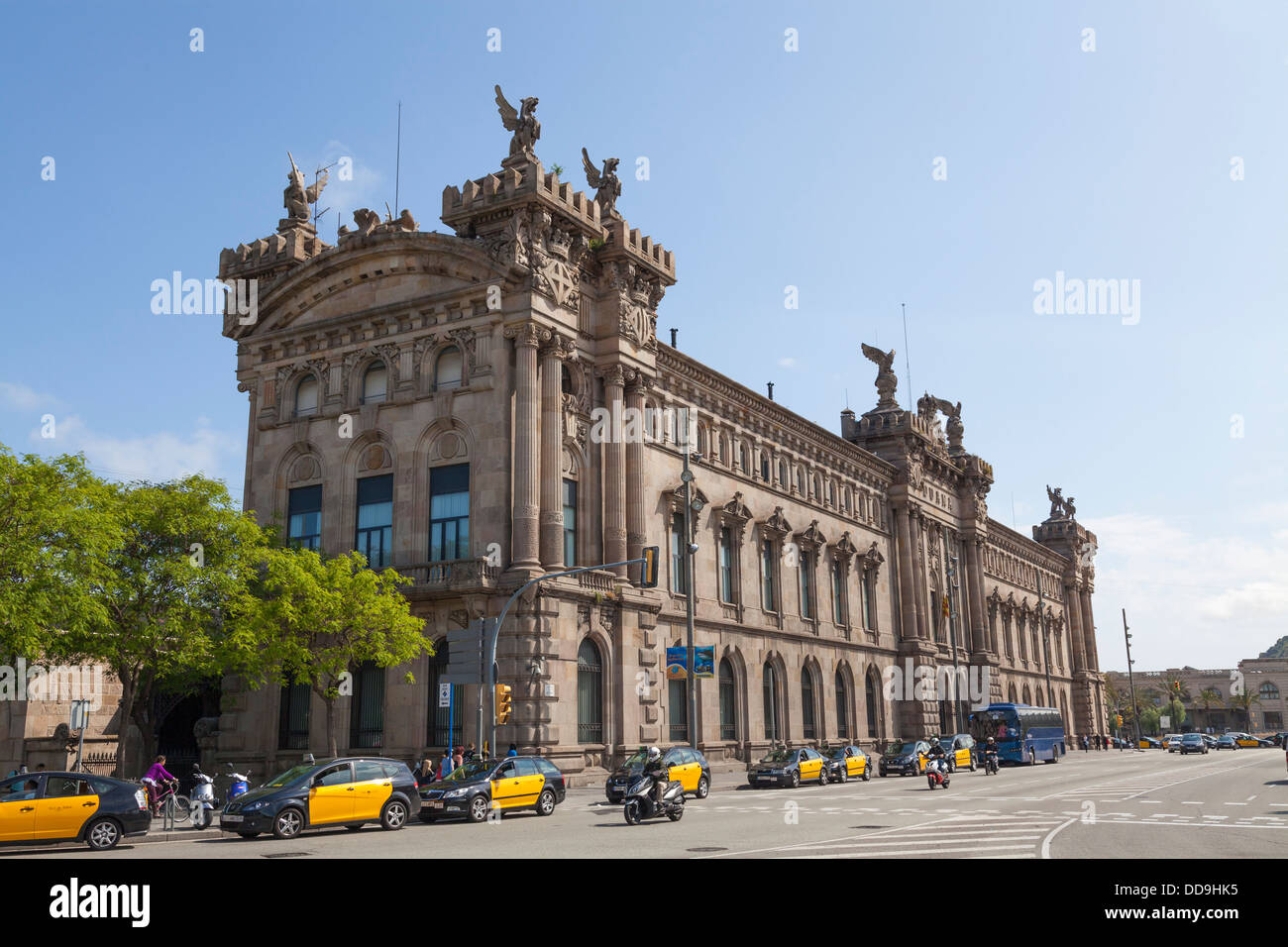 The Old Customs Building Aduana in Barcelona. - Stock Image