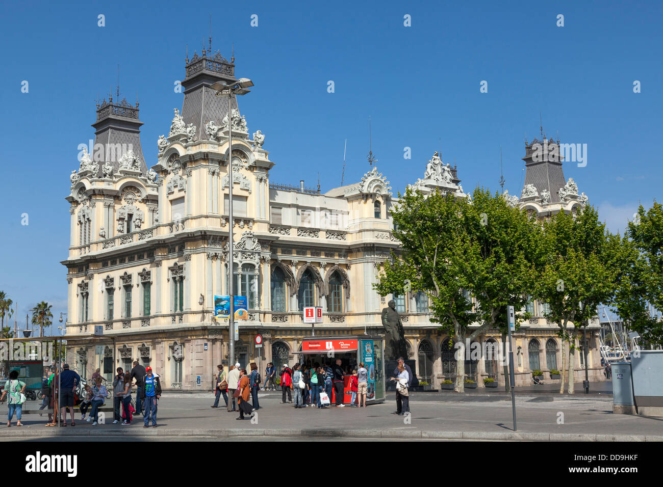 Old Port Authority building exterior Barcelona - Stock Image