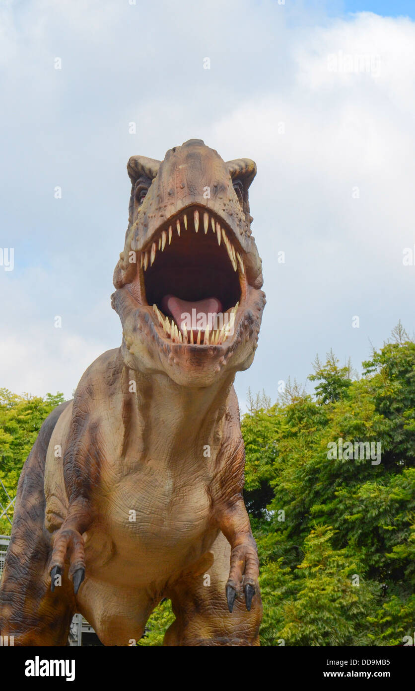 Tyrannosaurus rex is arguably the most famous dinosaur of all. It lived during the last 5 million years of the Cretaceous - Stock Image