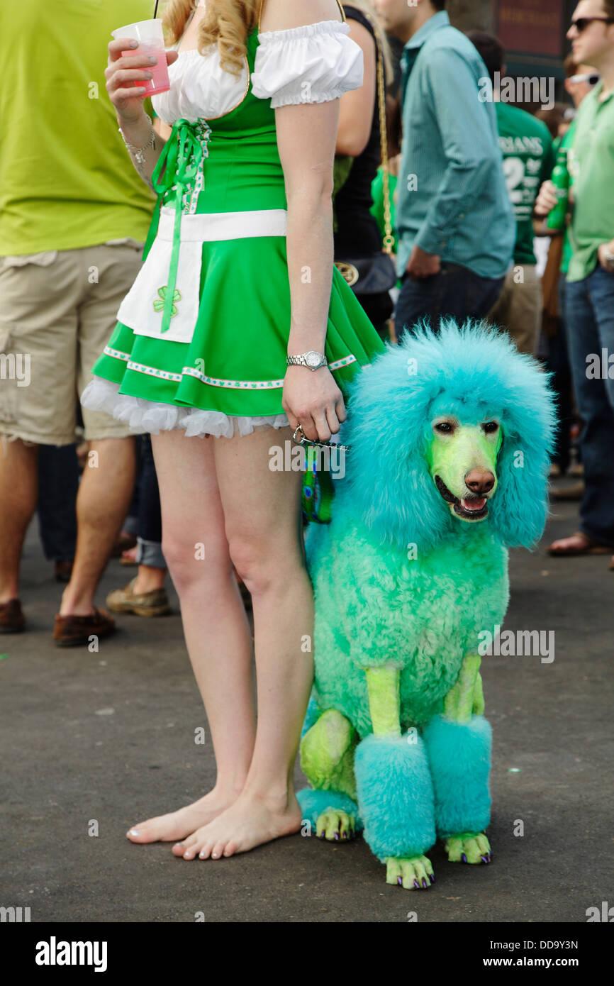 St. Patrick's Day festival, Raleigh, North Carolina, USA - Stock Image