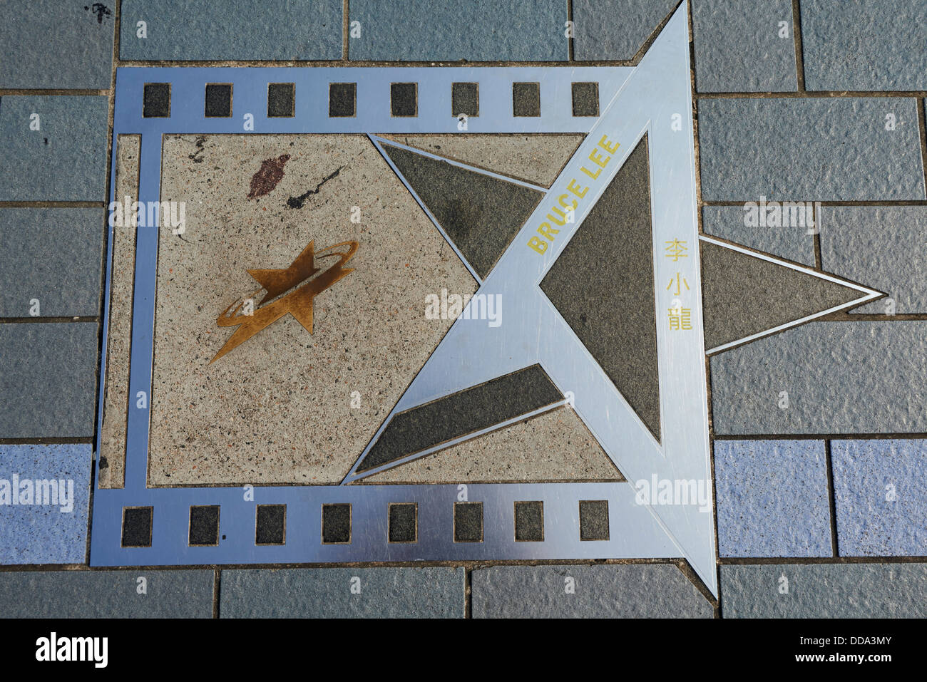 China, Hong Kong, Kowloon, Avenue of Stars, Brunce Lee statue - Stock Image