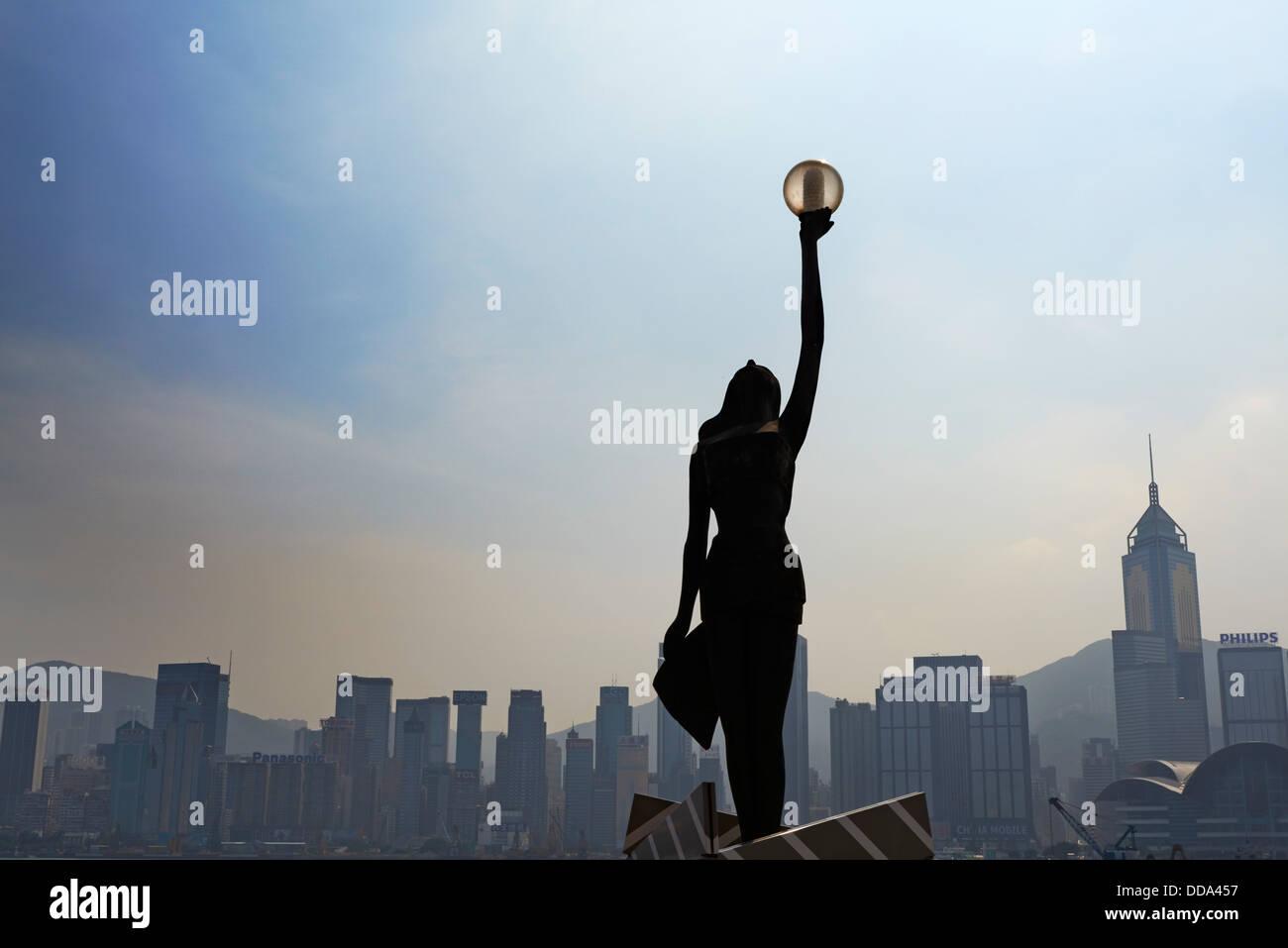China, Hong Kong, Kowloon, Avenue of Stars - Stock Image