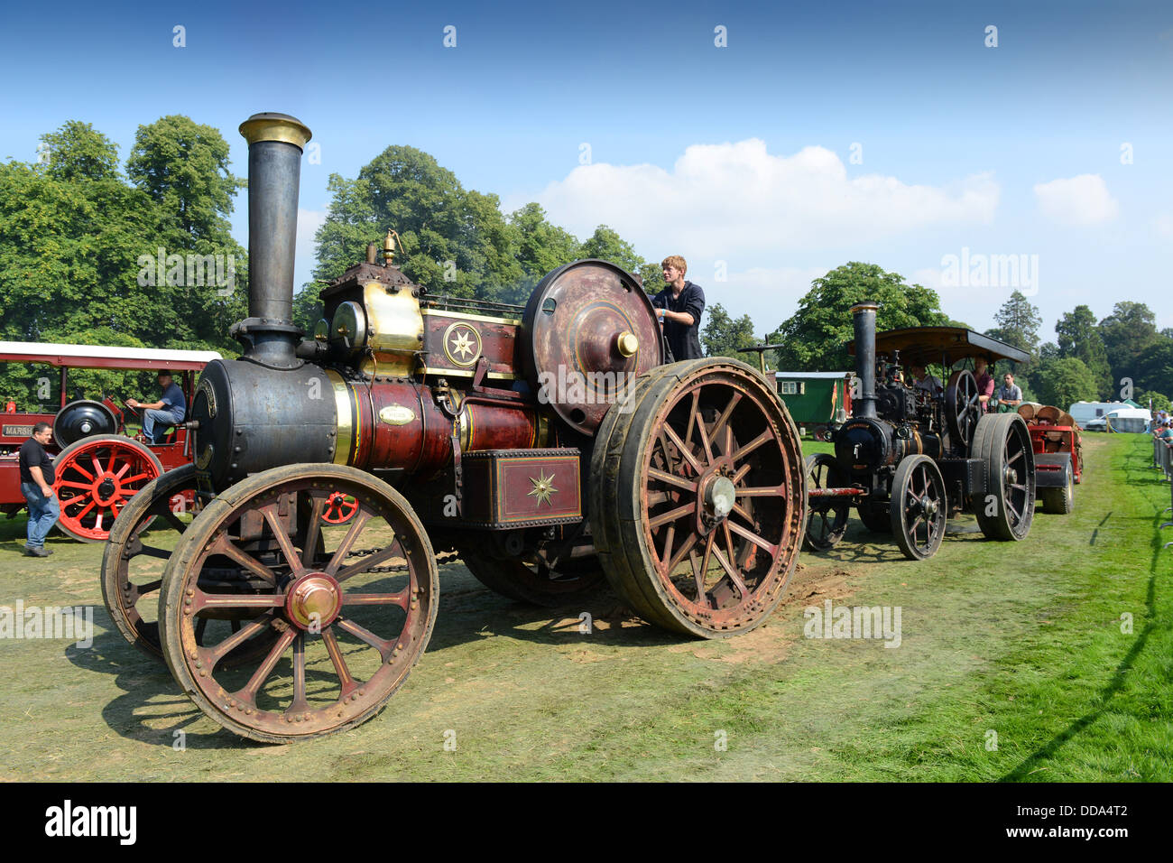 1919 Fowler Showman's steam engine at Shrewsbury Steam Rally 2013 - Stock Image