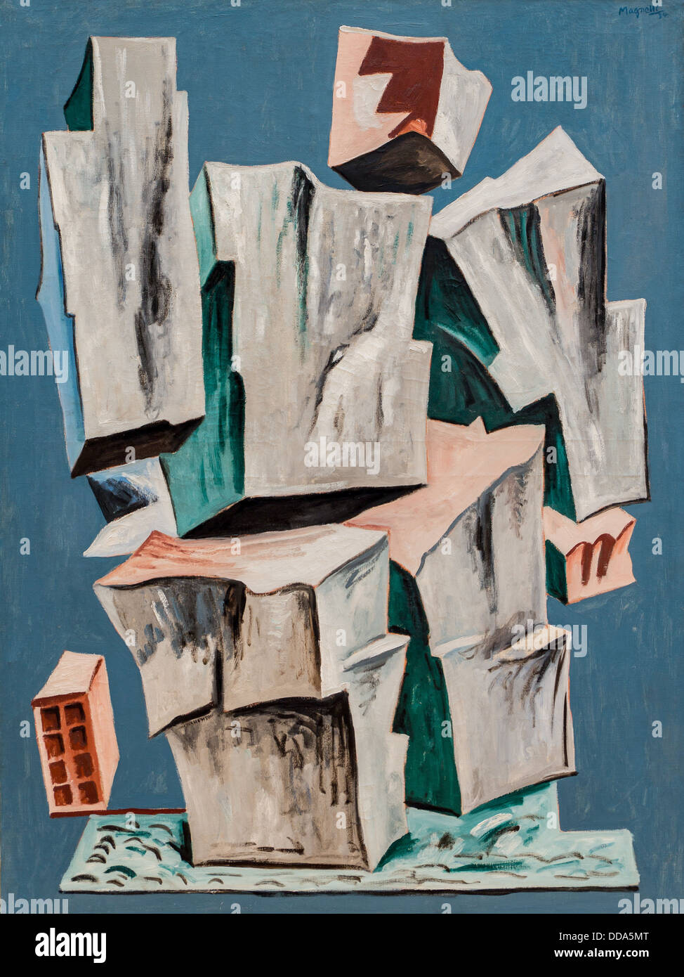 20th century  -  Rock, 1934 - Alberto Magnelli Philippe Sauvan-Magnet / Active Museum Oil on canvas - Stock Image