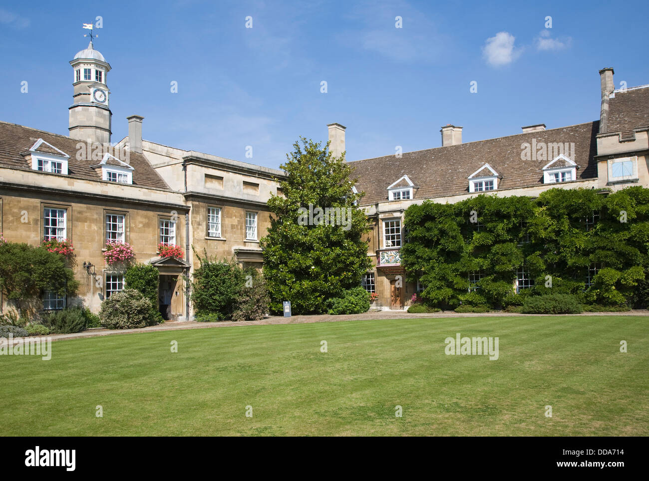 First Court building lawn Christ's College University of Cambridge England - Stock Image