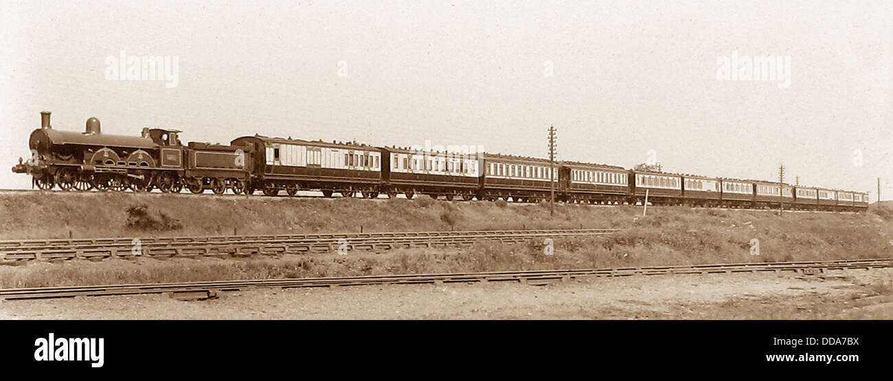 LNWR passenger Train in 1904 - Stock Image