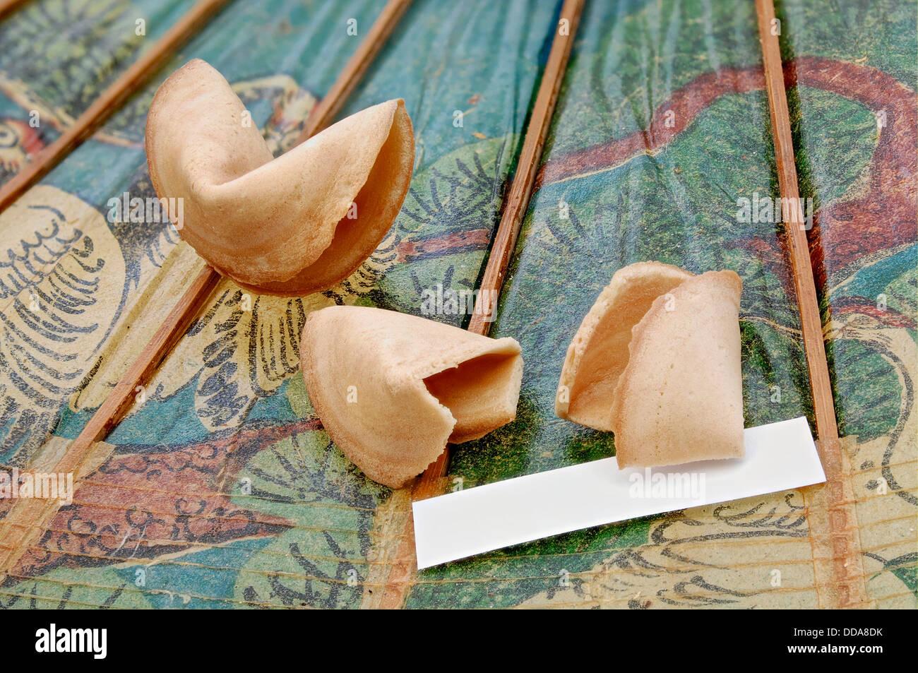 Fortune cookies completely broken - Stock Image