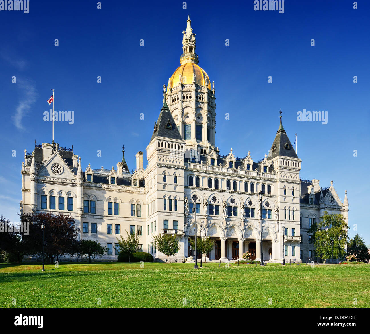 Connecticut State Capitol in Hartford, Connecticut. Stock Photo
