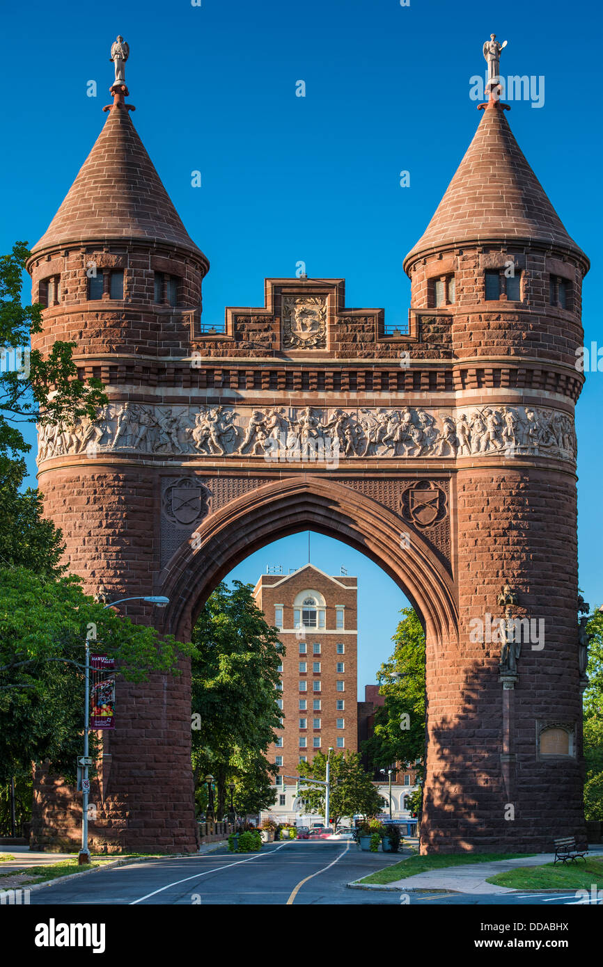 Gate in Bushnell Park in Hartford, Connecticut - Stock Image