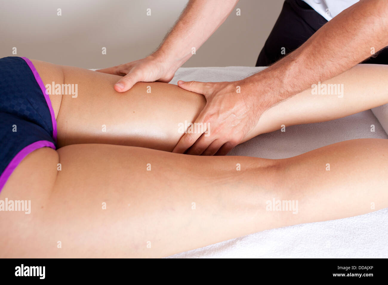 myofascial therapy - Stock Image